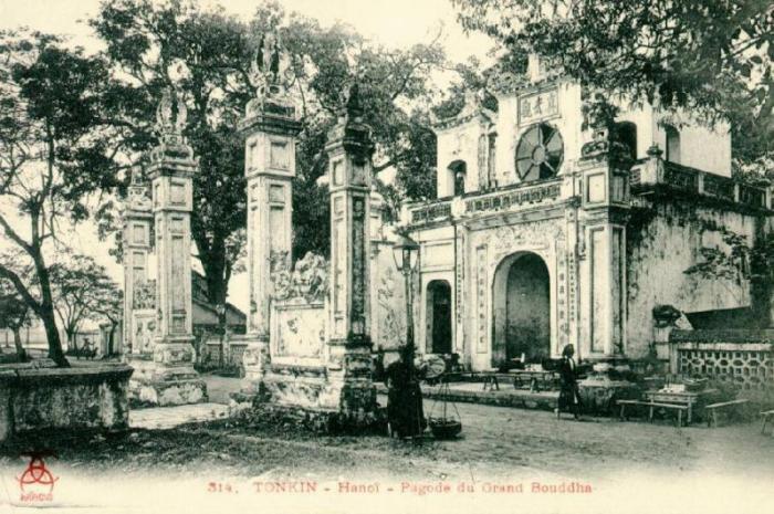 Trấn Vũ quán (Đền Quán Thánh), một trong Thăng Long tứ quán vào những năm đầu thế kỷ 20.